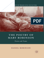 (Nineteenth-Century Major Lives and Letters) Daniel Robinson (Auth.)-The Poetry of Mary Robinson_ Form and Fame-Palgrave Macmillan US (2011)