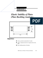 Elastic Stability of Plates(Plate Buckling Analysis