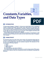 Constants Variables and Data Types