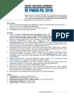 Informasi Pmdk-pa 2018