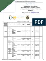 Agenda - Seminario de Investigacion - 2018 i Periodo 16-01 (Peraca 471)