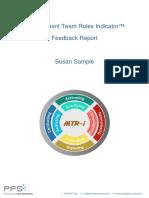 MTR-i Feedback Sample Report