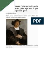 La Gente Antes de Colón No Creía Que La Tierra Era Plana