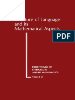 Structure of Language and Its Mathematical Aspects