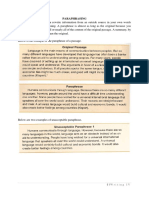Plagiarism_paraphrase and Summary Handout