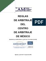 Reglas de Arbitraje Del CAM