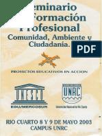Seminario de Formacion Profesiona Comunidad Ambiente y Ciudadania