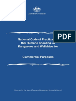National Code of Practice for the Humane Shooting of Kangaroos and Wallabies for Commercial Purposes