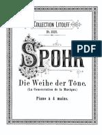 Spohr Symphony No 4 Piano Duet version