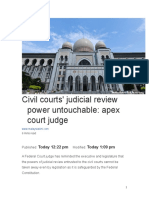 Civil courts' judicial review power untouchable