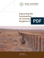Improving Humaneness of commercial kangaroo harvesting
