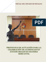 protocolo de audiencia oral mercantil