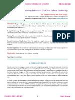 Femininity Influences On Cross Culture Leadership  http://ijire.org