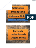 Hebraico 1 - C - PK3 - A Partícula Indicadora do Objeto Direto e o Daguesh - p.30-31