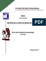 Reporte Museo de Geología....
