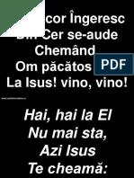 Un Cor Ingeresc Din Cer Se-Aude Chemand - Hai La El Nu Mai Sta
