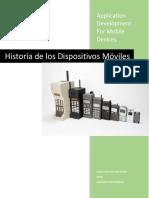 Historia y Evolución de Los Dispositivos Móviles