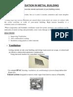 Condensation in Metal Building