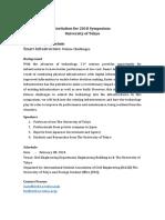 Tentative Schedule for Civil Engineering Symposium
