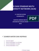 Prosedur Dan Standar Mutu Asean Universirty Network Aun