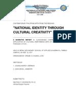 C.P.A.R. Narrative—'National Identity Through Cultural Creativity', Sep 19, 2017