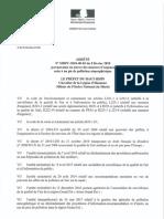 Arrêté préfectoral de la préfecture du Haut-Rhin pour limiter la pollution le 9 février 2018