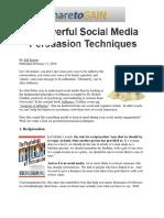 Social Media Persuasion