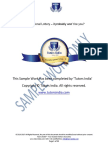 Sample Work for Dissertation Statistical Analysis Help | Tutorsindia