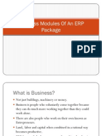Business Modules of an ERP Package
