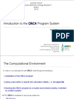 4 Introduction to the ORCA Program Wennmohs
