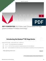 Radeon RX Vega Series