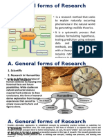 3 Forms and Types of Research