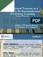 Letonija Edukacioni Turizam Nikolaeva Et Al ASEM LLL Hub RN3 Philippines 09-12-2011 1