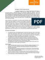 Factsheet Horticulture