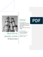 API Operator Manual Practical Distillation