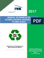 Manual de Manejo de Acumuladores Usados Cliente Nacional