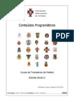 Conteúdos Curso Distrital 2010
