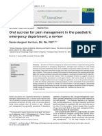 Oral Sucrose for Pain Management in the Paediatric Emergency Department; A Review
