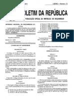 Decreto - Lei n 01.2011 - Aprova o Codigo Da Estrada