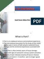 Pain in Geriatrics (1)