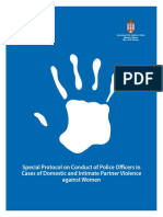 UNDP SRB Special Protocol on Conduct of Police Officers in Cases of Domestic and Intimate Partner Violence Against Women
