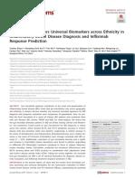 Gut Microbiota Offers Universal Biomarkers Across