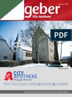 Ratgeber aus Ihrer City-Apotheke – Februar 2018