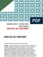 IMAGOLOGIE CURS Analiza de Continut