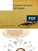 How to Choose the Good Dictionary