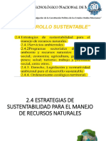 2.4 Estrategias de Sustentabilidad Para El Manejo de Recursos Naturales
