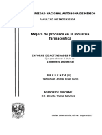 INFORME - Mejora de Procesos en La Industria Farmaceutica