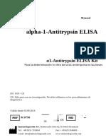 Manual de Instrucciones K6750 Alfa 1 Antitripsina
