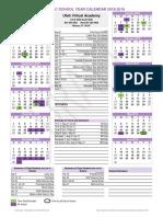 utva academic calendar 18-19