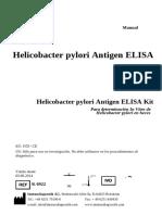 Manual de Instrucciones K6922 Helicobacter Pilory Ag